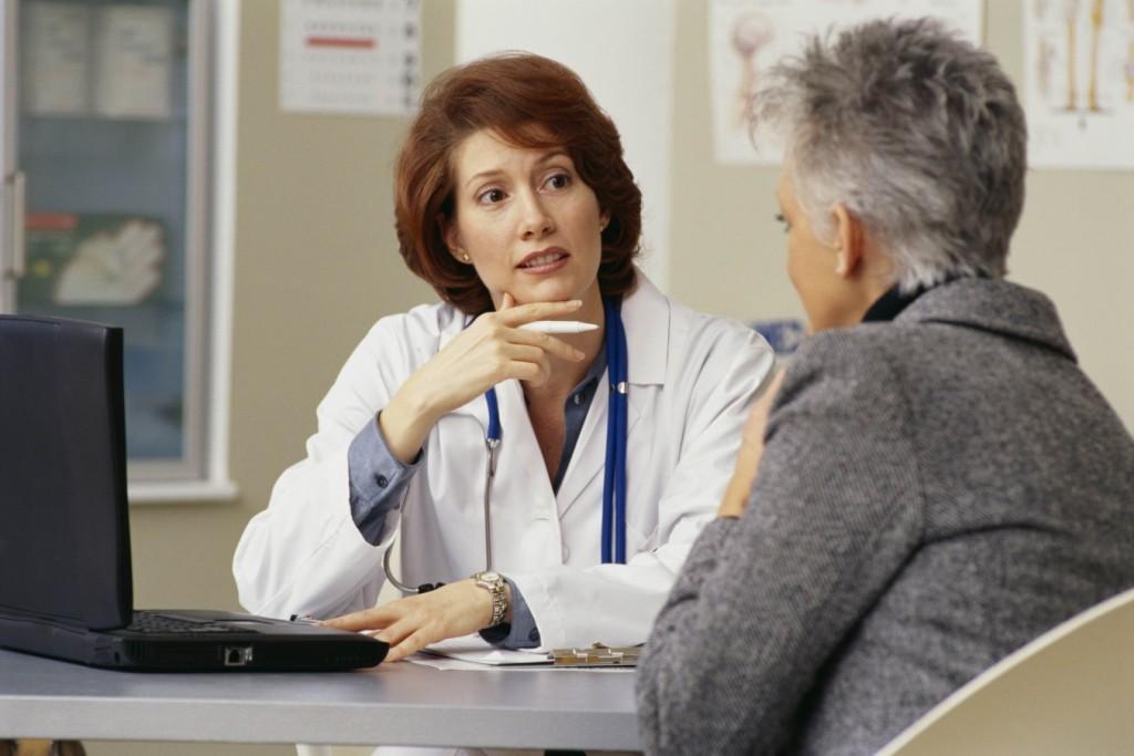 пациентка в менопаузе у гинеколога